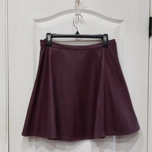 LC Burgundy Pleather Skirt S10